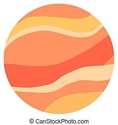 blanco, vector, ilustración, fondo., planeta, venus