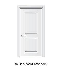 blanco, vector, puerta, ilustración