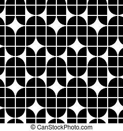 Blanco y negro patrón geométrico abstracto, contraste re