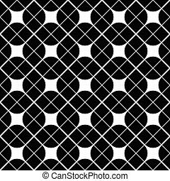 Blanco y negro patrón geométrico abstracto, vector cont