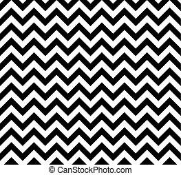 Blanco y negro Zig zag sin un patrón vectorial.