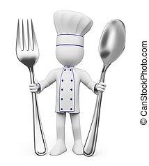 Blancos 3D. Chef