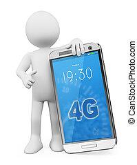 Blancos 3D. Teléfono móvil 4G LTE