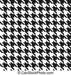 Blancos y negros sabuesos blancos y negros, patrón de vector.