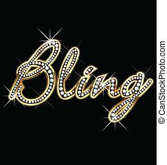 Bling bling palabra vector