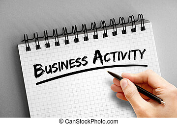 bloc, actividad, texto, empresa / negocio, plano de fondo, concepto