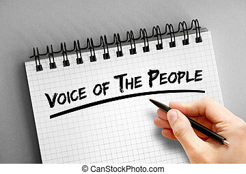 bloc, voz, gente, texto, plano de fondo, concepto