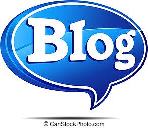 blog, burbuja del discurso