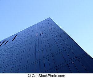 Bloque de oficina azul