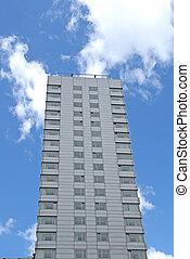 Bloqueo de apartamentos gris
