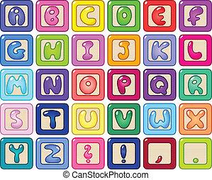 bloques alfabetos