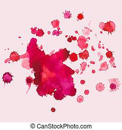 Bloques de acuarela, salpicadura, ilustración vectorial