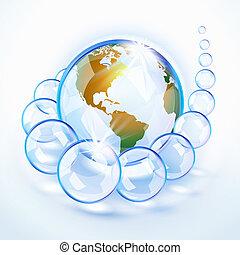 Blue Burbujado Tierra América