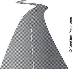 bobina, camino largo