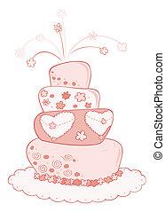 boda, cake.