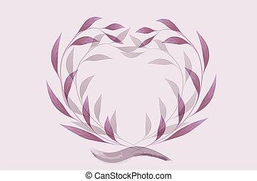 boda, púrpura, decoración floral
