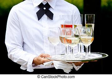 boda, servicio, abastecimiento