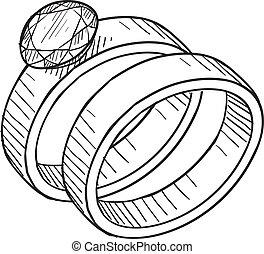 Boda y anillo de compromiso