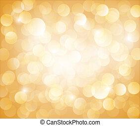 bokeh, vector, soleado, fondo amarillo