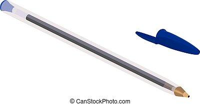 bolígrafo, pluma azul