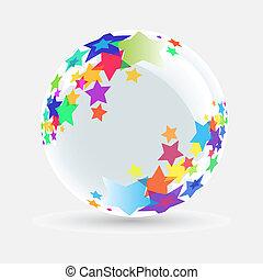 Bola blanca con estrella