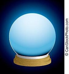 bola de cristal, caja de la fortuna