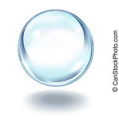 Bola de cristal flotando