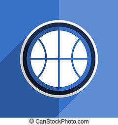 Bola de diseño azul plana moderna de icono web