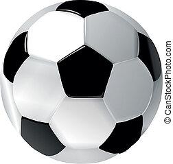 Bola de fútbol blanco y negro