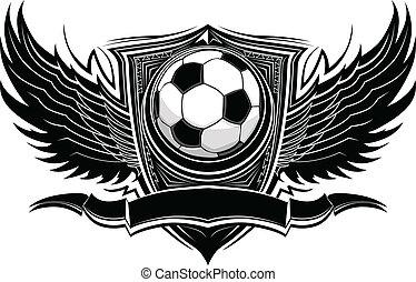 Bola de fútbol, vector gráfico
