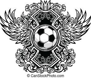 Bola de fútbol, vector gráfico T