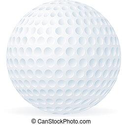 Bola de golf aislada en blanco