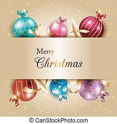 Bola de Navidad de color dorado