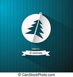 Bola de Navidad y árbol hechos de papel