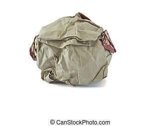 Bola de papel arrugada