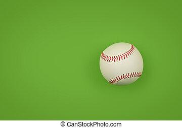 bola del béisbol, uno, encima, arriba, verde, cierre