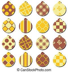 Bolas de decoración de Navidad