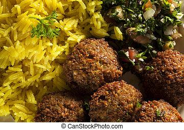 Bolas vegetarianas saludables de falafel