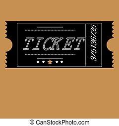 boleto, coloreado, persona, plano de fondo, negro, uno