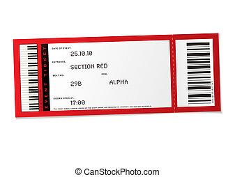 boleto, concierto, acontecimiento