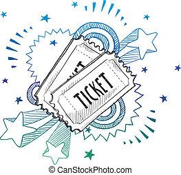 Boleto de entradas para el evento