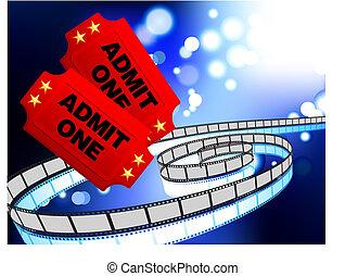 Boletos de cine con antecedentes de Internet