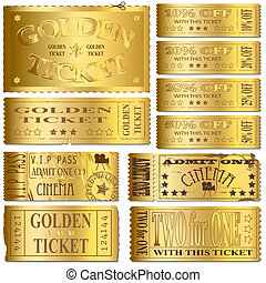 boletos, oro