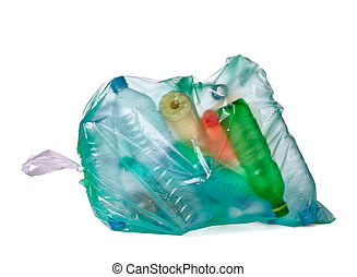 Bolsa de basura con basura vacía