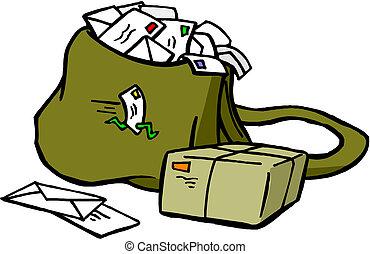 Bolsa de correo con Carta y correo