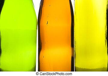 Bolsa de cristal de colores macro