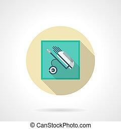 Bolsa de golf plana icono vector redondo
