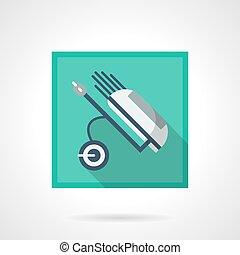 Bolsa de palos de golf icono vector cuadrado plano