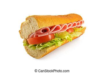 Bolsa de sándwich de jamón