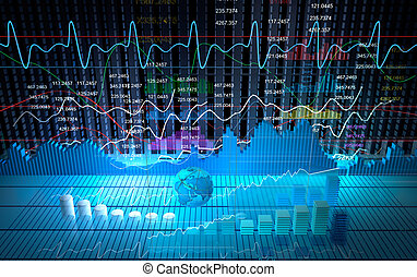 Bolsa de valores, fondo abstracto
